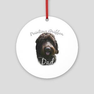 Griffon Dad2 Ornament (Round)