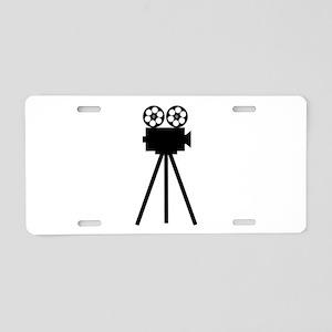 Movie Projector Aluminum License Plate