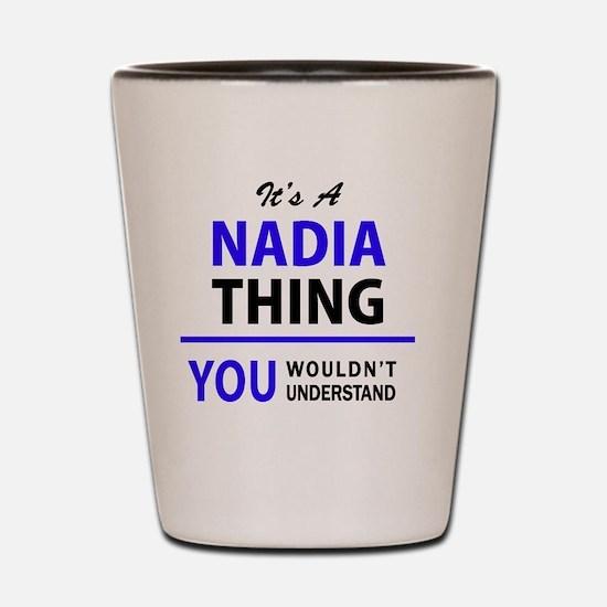 Funny Nadia Shot Glass