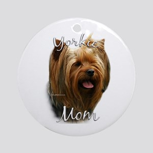 Yorkie Mom2 Ornament (Round)