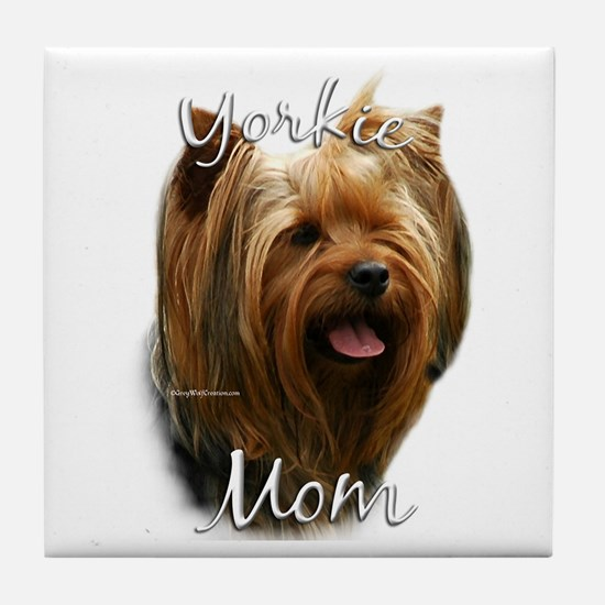 Yorkie Mom2 Tile Coaster