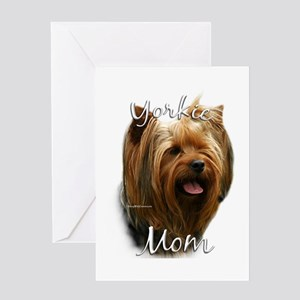 Yorkie Mom2 Greeting Card