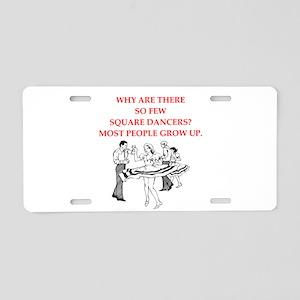 square dancing Aluminum License Plate
