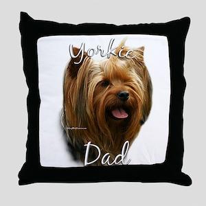 Yorkie Dad2 Throw Pillow