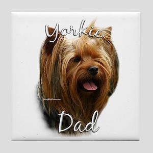 Yorkie Dad2 Tile Coaster
