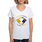 Co-Ed Naked Cornhole Women's V-Neck T-Shirt