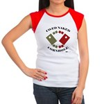 Co-Ed Naked Cornhole Women's Cap Sleeve T-Shirt