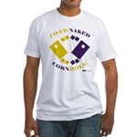 Co-Ed Naked Cornhole Fitted T-Shirt
