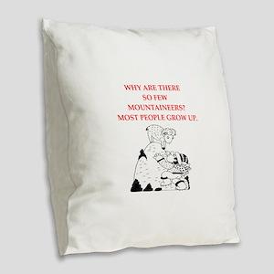 mountaineer Burlap Throw Pillow