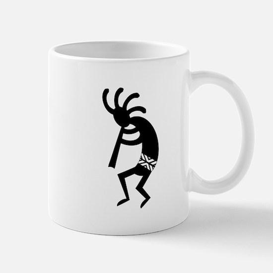 Black And White Kokopelli Southwest Design Mugs
