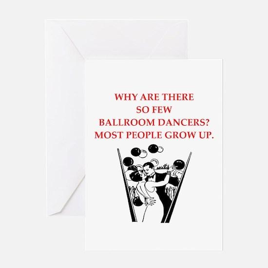 ballroom dancer Greeting Cards
