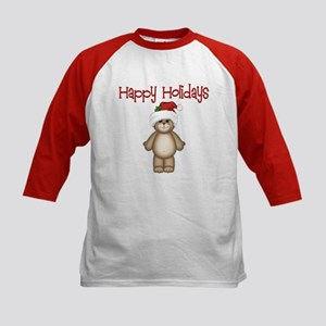 Happy Holidays Kids Baseball Jersey