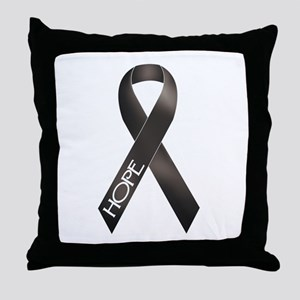 Black Ribbon Throw Pillow