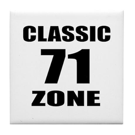 71 Birthday Designs Tile Coaster