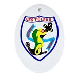 USS Toledo (CA 133) Oval Ornament