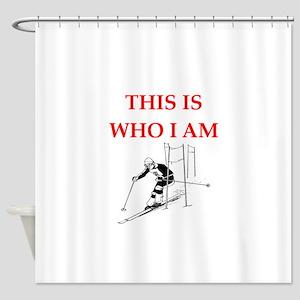 skier Shower Curtain