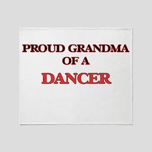 Proud Grandma of a Dancer Throw Blanket