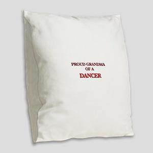 Proud Grandma of a Dancer Burlap Throw Pillow