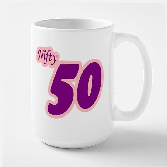 Nifty 50 Fifty Shirt Large Mug