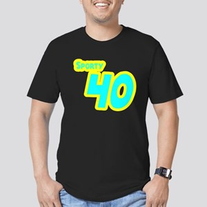 Sporty Forty 40 Men's Fitted T-Shirt (dark)