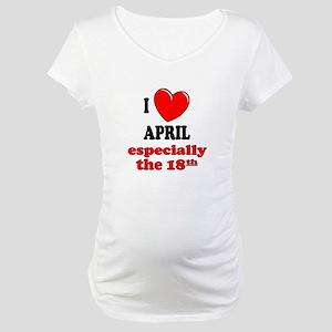 April 18th Maternity T-Shirt