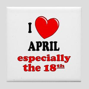 April 18th Tile Coaster