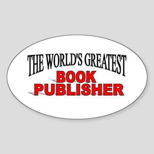 """The World's Greatest Book Publisher"" Sticker (Ova"