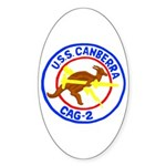 USS Canberra (CAG 2) Oval Sticker