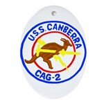 USS Canberra (CAG 2) Oval Ornament