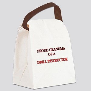 Proud Grandma of a Drill Instruct Canvas Lunch Bag