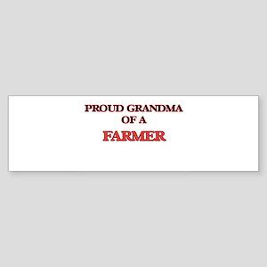 Proud Grandma of a Farmer Bumper Sticker