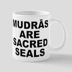 Mudras Are Sacred Seals Small White Mug Mugs