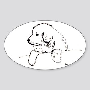 Great Pyrenees puppy Oval Sticker