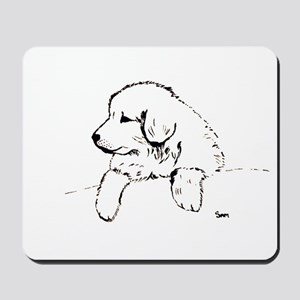 Great Pyrenees puppy Mousepad