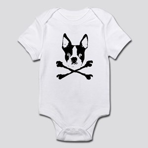 Boston Terrier Skull And Crossbones Baby Clothes Accessories
