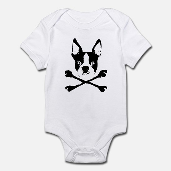 Boston Terrier Crossbones Infant Bodysuit