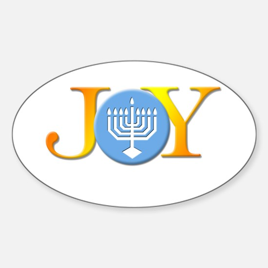 Joy Menorah Oval Decal