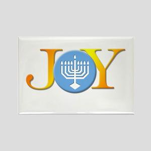 Joy Menorah Rectangle Magnet