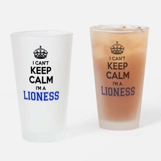 Funny Lioness Drinking Glass