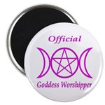 "Official Goddess Worshipper 2.25"" Magnet (10 pack)"