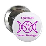 "Official Goddess Worshipper 2.25"" Button 100 pack"
