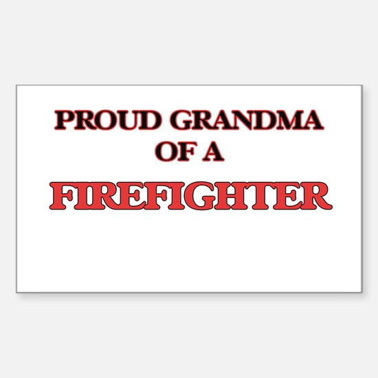 Proud Grandma of a Firefighter Decal