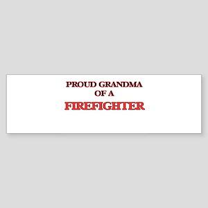 Proud Grandma of a Firefighter Bumper Sticker