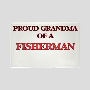 Proud Grandma of a Fisherman Magnets