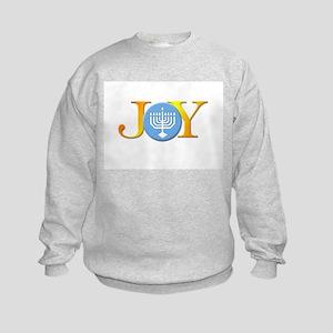 Joy Menorah Kids Sweatshirt