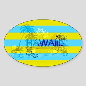 Hawaii Green Emerald Stripe Sticker