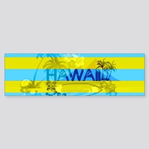 Hawaii Green Emerald Stripe Bumper Sticker