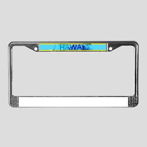 Hawaii Green Emerald Stripe License Plate Frame