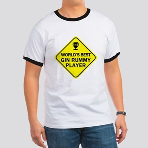 Gin Rummy Player Ringer T