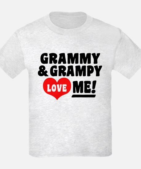 Grammy and Grampy Love Me T-Shirt